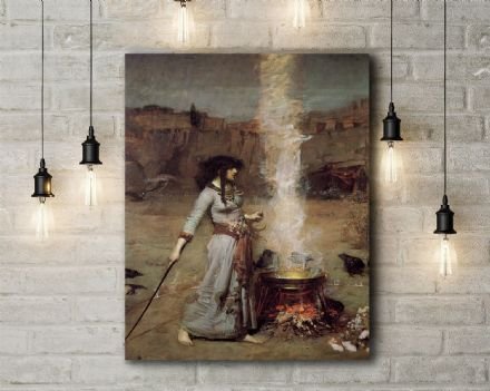 John William Waterhouse: The Magic Circle. Fine Art Canvas.